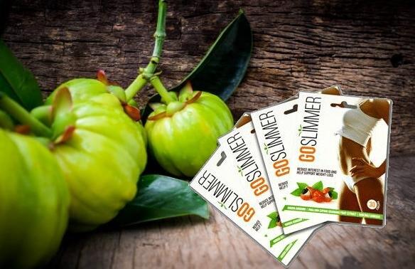 GoSlimmer опаковка и плодове гарциния камбоджа
