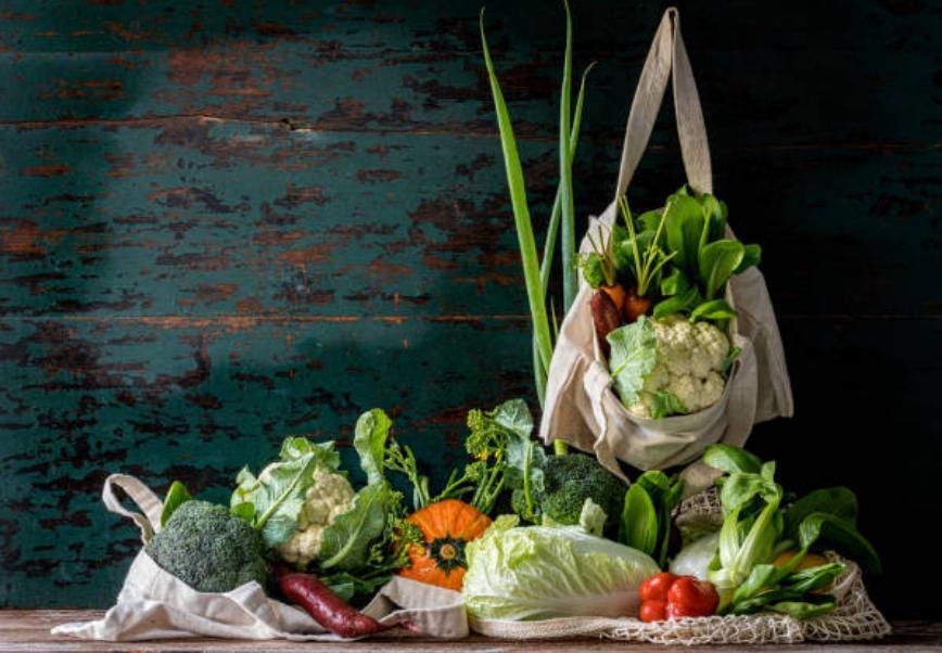 Пазарски торби и зеленчуци