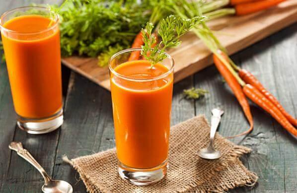 сок от моркови, храна за премахване на никотин