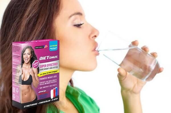 диетонус, жена пие вода