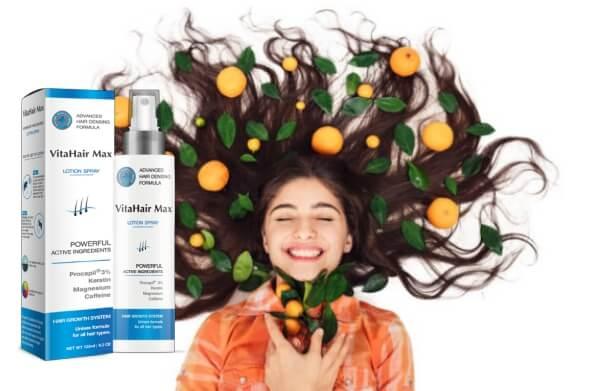 vitahair max спрей за коса, момиче, косопад
